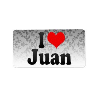 Amo a Juan Etiqueta De Dirección