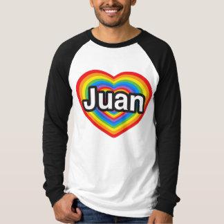 Amo a Juan. Te amo Juan. Corazón Playera