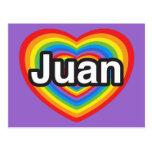 Amo a Juan. Te amo Juan. Corazón Postales
