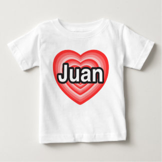 Amo a Juan. Te amo Juan. Corazón Remera