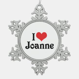 Amo a Juana Adorno De Peltre En Forma De Copo De Nieve