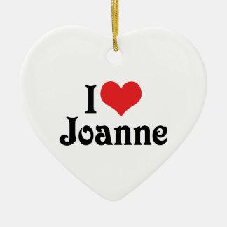 Amo a Juana Adorno Navideño De Cerámica En Forma De Corazón