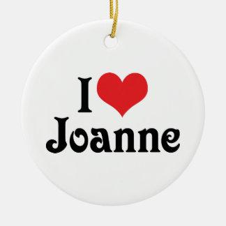 Amo a Juana Adorno Navideño Redondo De Cerámica