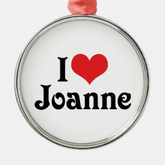 Amo a Juana Adorno Navideño Redondo De Metal