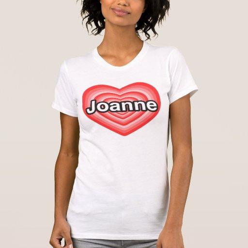 Amo a Juana. Te amo Juana. Corazón Playeras