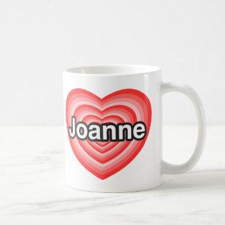 Amo a Juana. Te amo Juana. Corazón Tazas