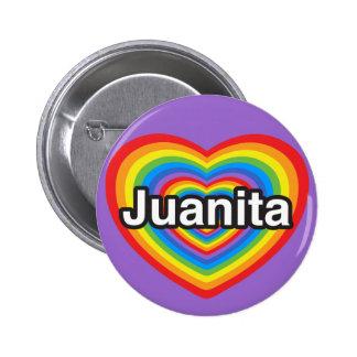 Amo a Juanita. Te amo Juanita. Corazón Pin