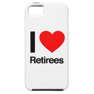 amo a jubilados iPhone 5 Case-Mate protectores