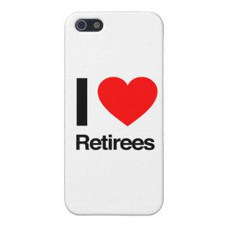 amo a jubilados iPhone 5 carcasas