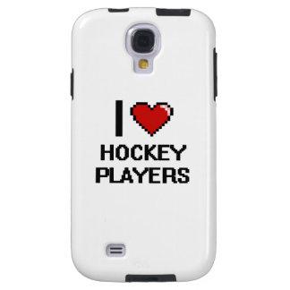 Amo a jugadores de hockey funda para galaxy s4