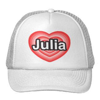 Amo a Julia. Te amo Julia. Corazón Gorro
