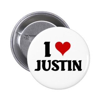 Amo a Justin Pin Redondo De 2 Pulgadas