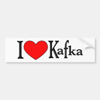 Amo a Kafka Pegatina Para Auto