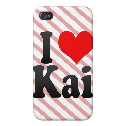 Amo a Kai iPhone 4 Carcasa