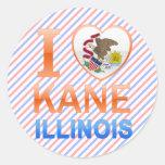 Amo a Kane, IL Pegatinas Redondas