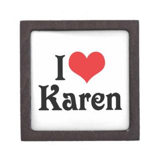 Amo a Karen Caja De Regalo De Calidad