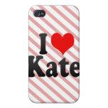 Amo a Kate iPhone 4 Protector