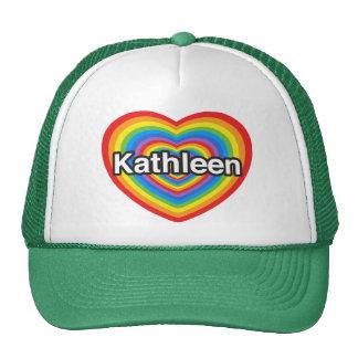 Amo a Kathleen. Te amo Kathleen. Corazón Gorro