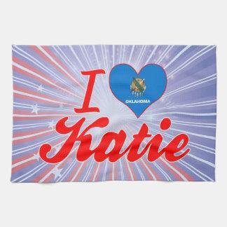 Amo a Katie Oklahoma Toalla De Cocina