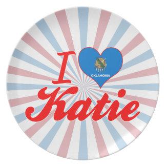 Amo a Katie Oklahoma Platos De Comidas