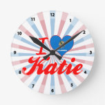 Amo a Katie, Oklahoma Relojes De Pared