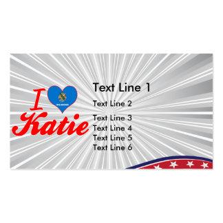 Amo a Katie Oklahoma Tarjeta De Visita