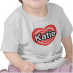 Amo a Katie. Te amo Katie. Corazón Camiseta