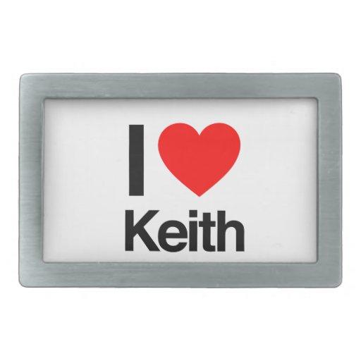 amo a Keith Hebillas De Cinturón Rectangulares