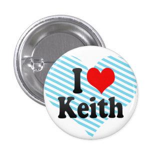 Amo a Keith Pin Redondo De 1 Pulgada