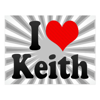 Amo a Keith Tarjeta Postal