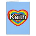 Amo a Keith. Te amo Keith. Corazón Felicitacion