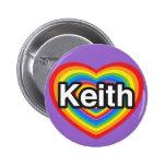 Amo a Keith. Te amo Keith. Corazón Pin