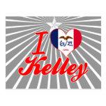 Amo a Kelley, Iowa Tarjetas Postales