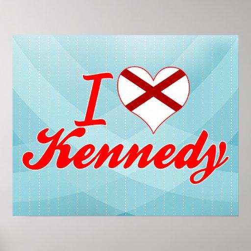 Amo a Kennedy, Alabama Impresiones