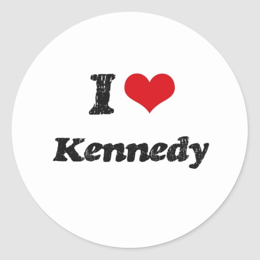 Amo a Kennedy Pegatinas Redondas