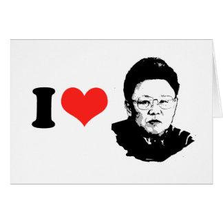 Amo a Kim Jong Il Tarjeta De Felicitación