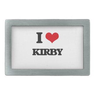 Amo a Kirby Hebillas Cinturón Rectangulares