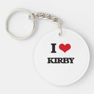 Amo a Kirby Llavero Redondo Acrílico A Una Cara