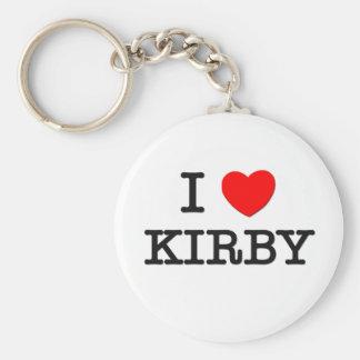 Amo a Kirby Llavero Redondo Tipo Pin