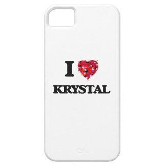 Amo a Krystal iPhone 5 Fundas