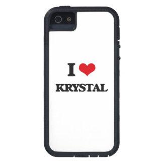 Amo a Krystal iPhone 5 Carcasas
