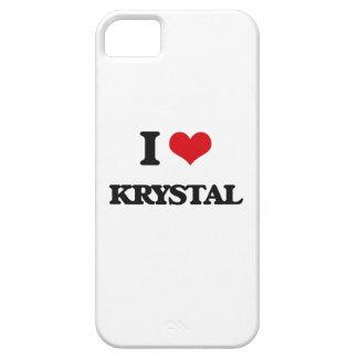 Amo a Krystal iPhone 5 Carcasa