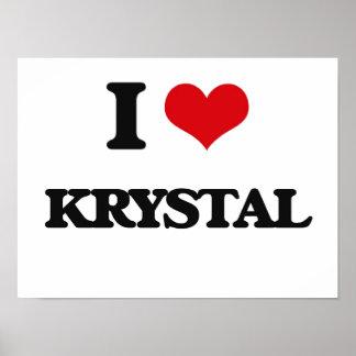 Amo a Krystal Póster