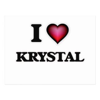 Amo a Krystal Tarjeta Postal