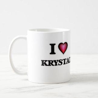 Amo a Krystal Taza De Café