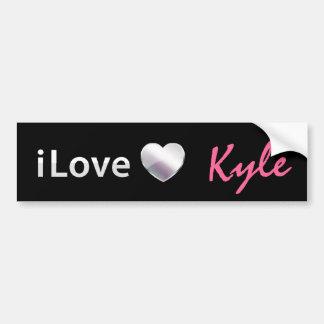 Amo a Kyle Pegatina Para Auto