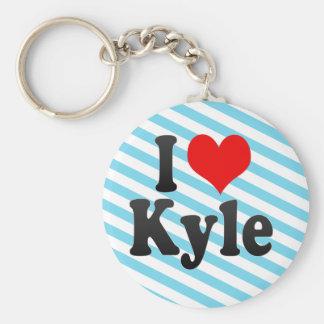 Amo a Kyle, Estados Unidos Llavero Redondo Tipo Pin