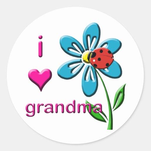 Amo a la abuela pegatinas