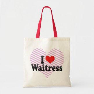 Amo a la camarera bolsas de mano