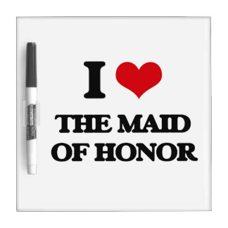 Amo a la criada del honor pizarras